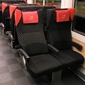 写真: リクライニングする座席