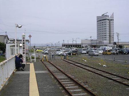 稚内駅ホーム末端