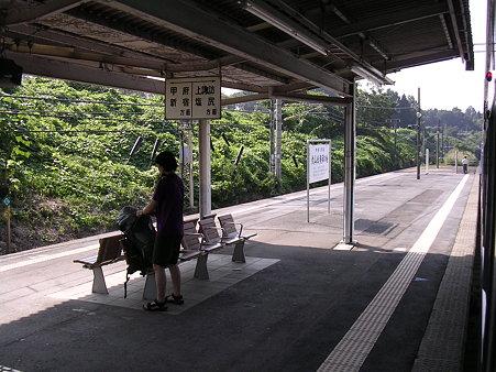 穴山駅ホーム