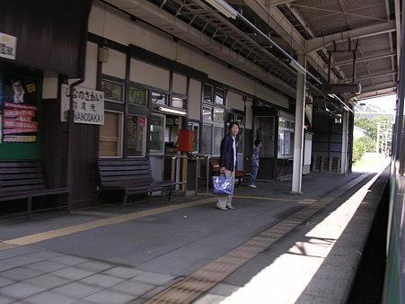 信濃境駅ホーム