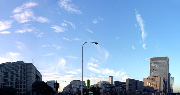 大阪中之島 御堂筋大江橋から空 wp_k037