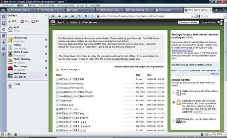 Opera Unite:Web Server