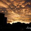 写真: 虹の日の夕景