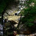 写真: 露天風呂 滝を見ながら  白山スーパー林道