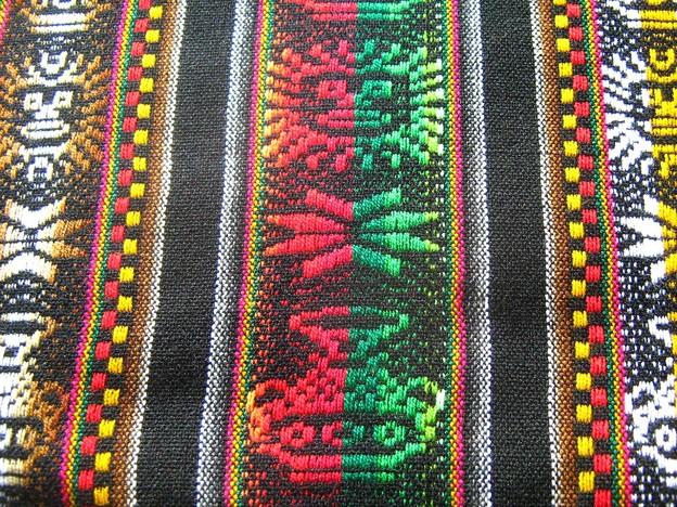 インカ柄タペストリー