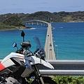 写真: GSと角島