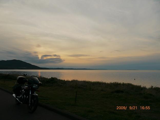 020_サロマ湖の夕暮れ