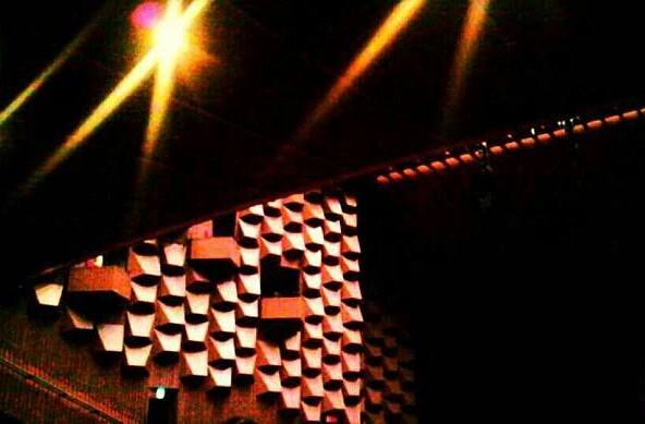 反響板と照明。