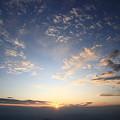 秋空と夕日