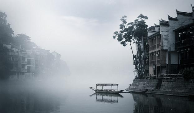 湖南 鳳凰の景色と大雨で洪水 (9)