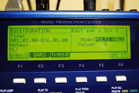 MPC-1000 エディット画面