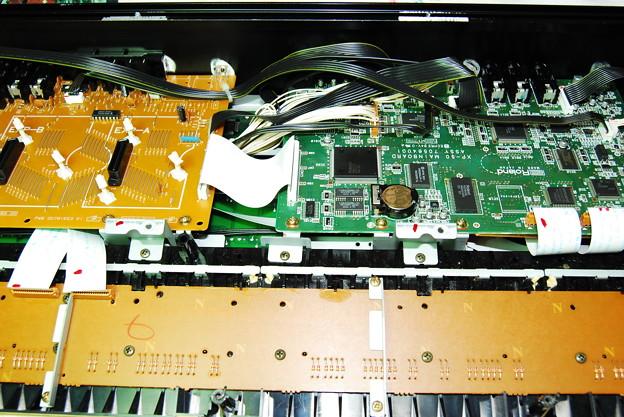 写真: XP-50 音源基盤部分