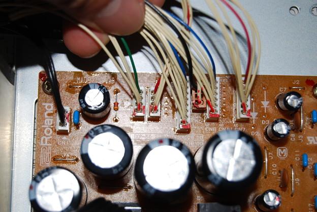 写真: XP-50 電源部分接続確認用