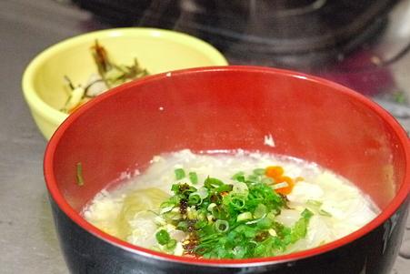 鳥はむ肉のスープで雑炊を作ったら感動した