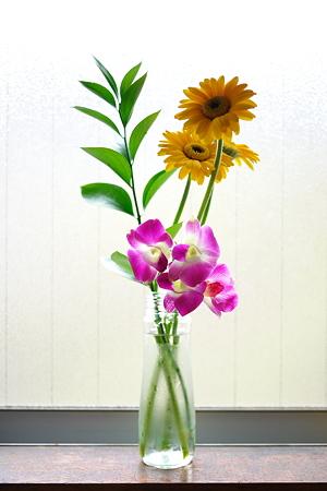 台所の切り花