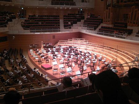 東京交響楽団第55回新潟定期演奏会セッティング