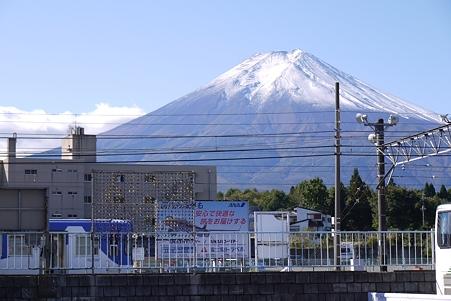 富士吉田駅からの富士山