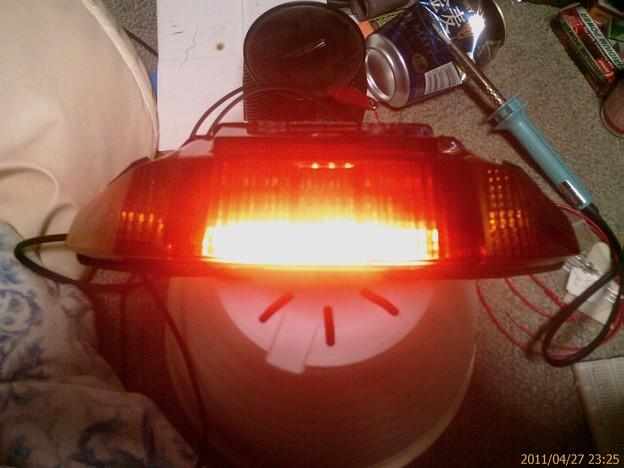 スモールランプ点灯テスト