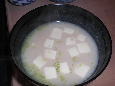 白味噌のお味噌汁