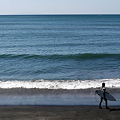写真: 名残りの海
