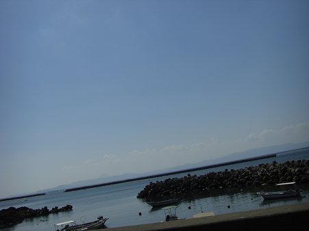 対岸は薩摩半島