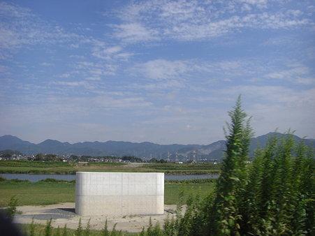 遠賀川に一つだけある橋脚・・・既に遺構?