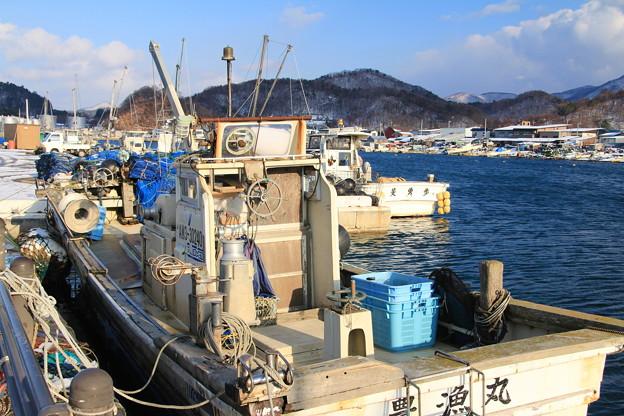 ホタテ漁船