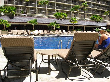 2009年ハワイ旅行 〜 リーフのプールで(朝から昼過ぎまで) 〜