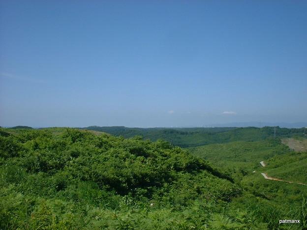 【北部上北広域農道】無線中継所付近から北を望む