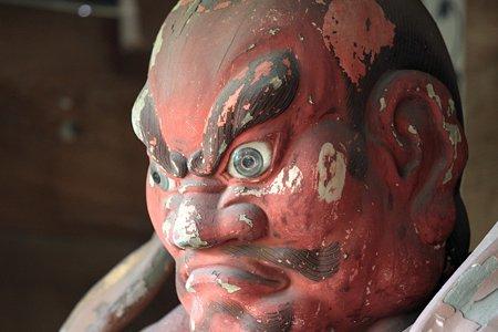 2009.08.09 鎌倉 杉本寺 山門の仁王像 左