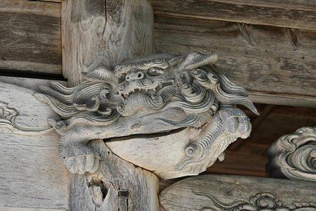 2009.08.12 遠野 かっぱ渕 常堅寺 山門の木鼻-1