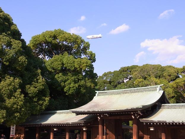 【東京|渋谷・原宿】 明治神宮上空の飛行船(3)