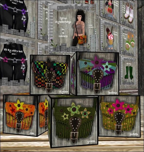 CONCRETE FLOWERS- HEMP SHOULDERBAG