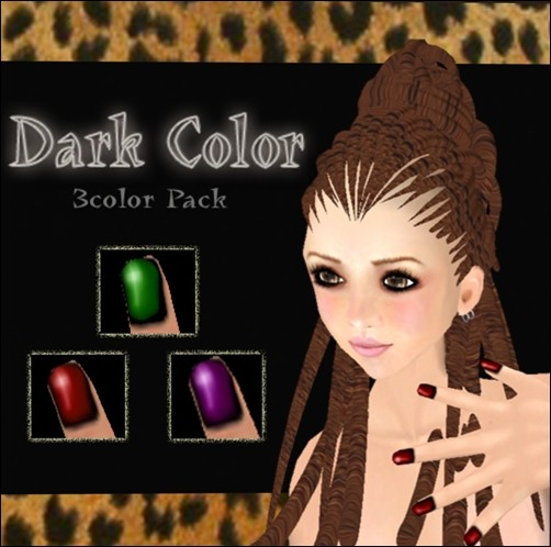 [ Love Soul ] Nail*Dark Color Pack* (A )