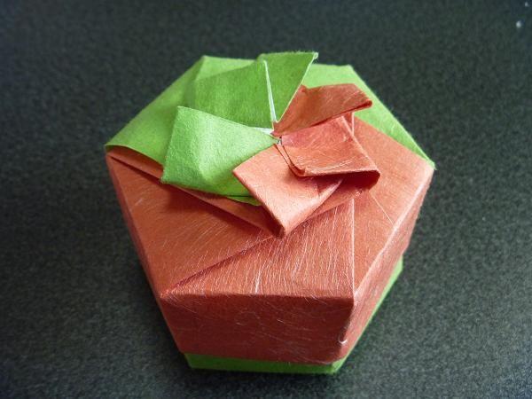 簡単 折り紙 折り紙 箱 六角形 : photozou.jp