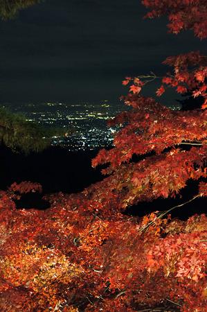 大山寺の紅葉と夜景