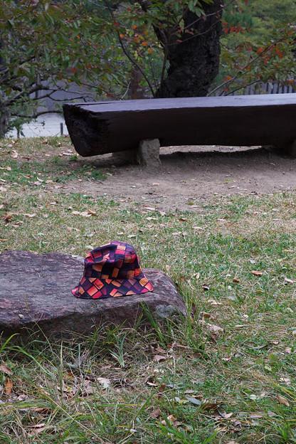 帽子も紅葉
