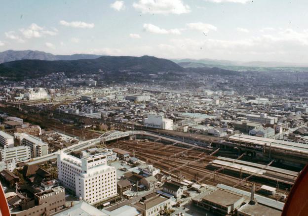 京都タワーからの眺望(40年前)-4