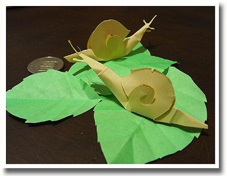 マイマイ 切り折り紙