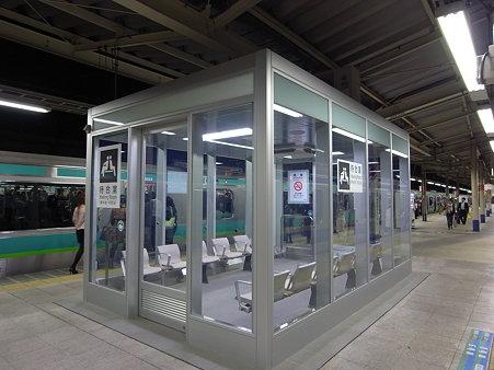 JR南千住駅に新設された待合室(2009/10)