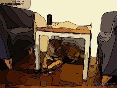 テーブル下犬小屋(シルクスクリーン)