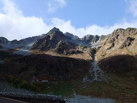 涸沢小屋と北穂高岳